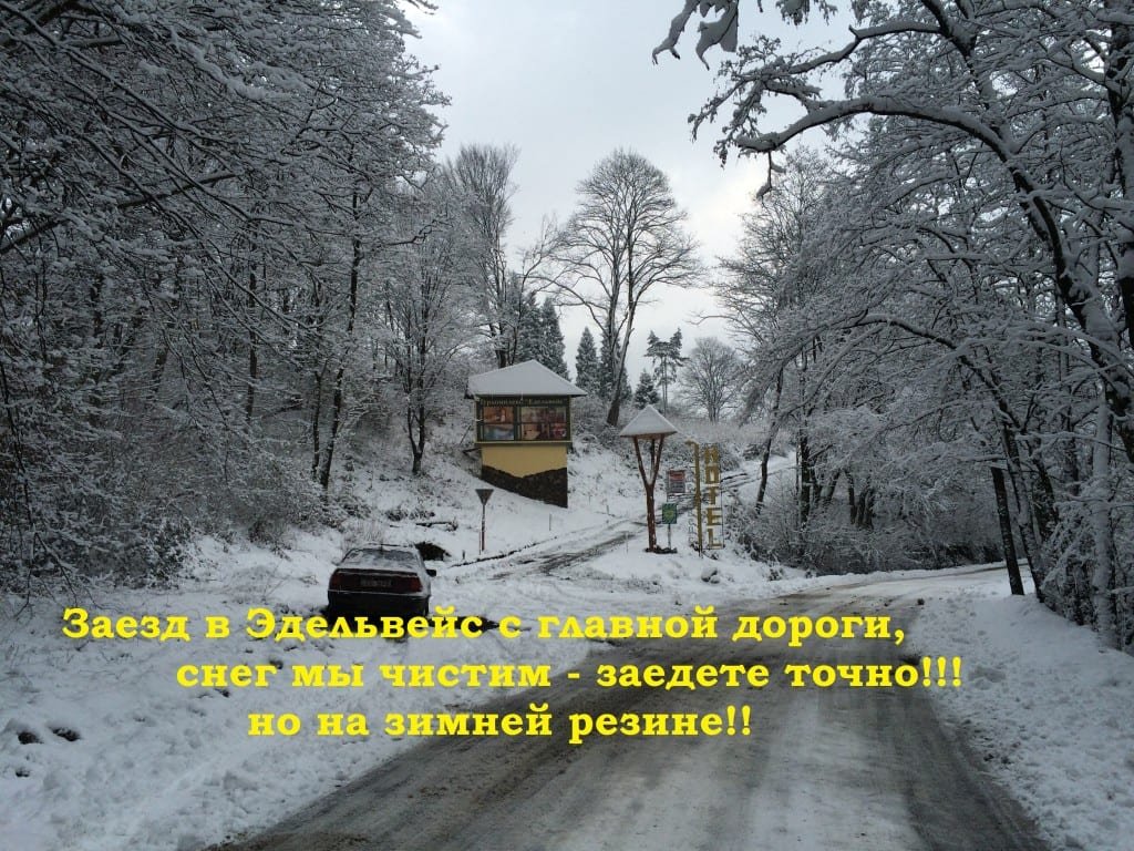Заезд зимой на отдых в Эдельвейс