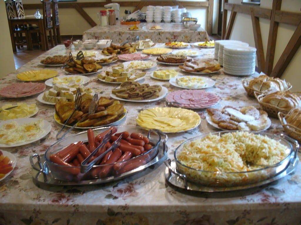 Шведский стол Отдых в Закарпатье