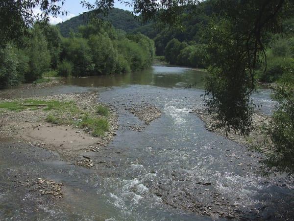 Речка около комплекса Эдельвейс Соль Закарпатье